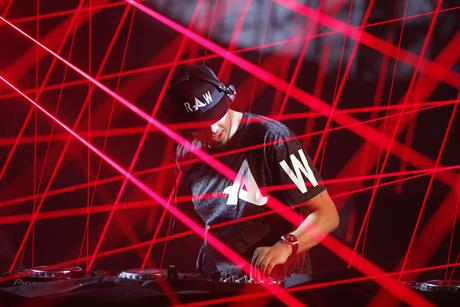 DJ Afrojack hosted a party in a separate venue