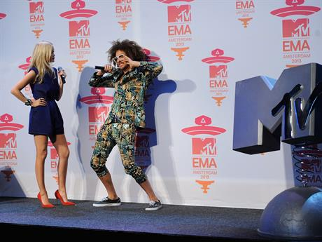 Host Redfoo shows some moves