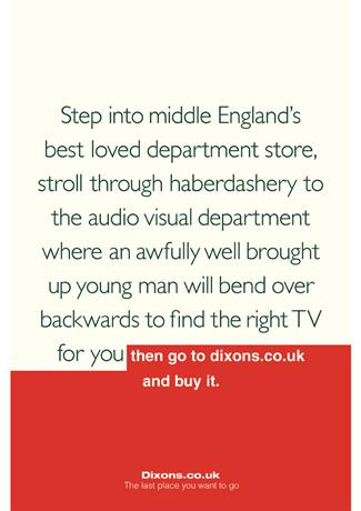 Dixons 'Middle England' by M&C Saatchi