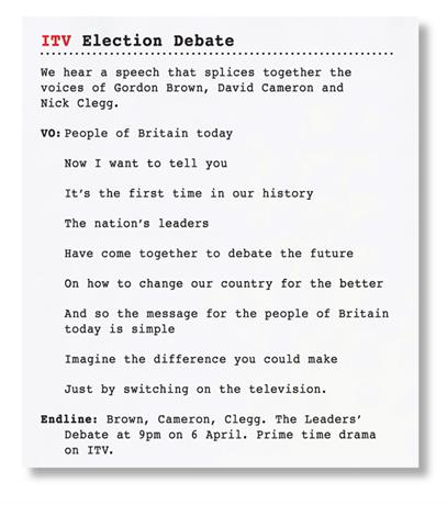 ITV 'Election Debate' by Bartle Bogle Hegarty