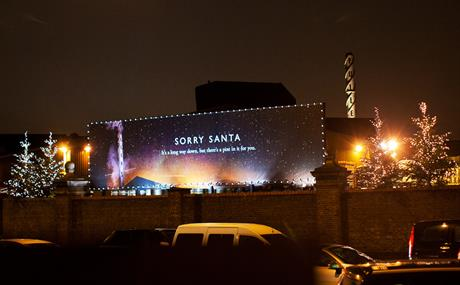 Fullers Brewery directs Santa down its chimney