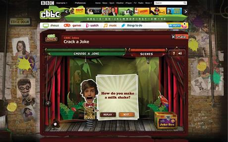 CBBC 'crack a joke' website