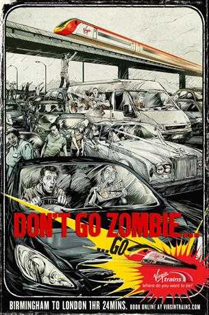 Virgin Trains - Don't Go Zombie - Birmingham to London