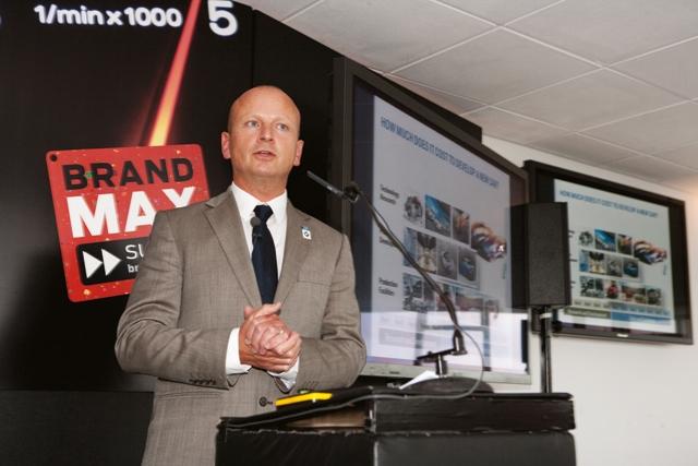 BMW marketing director Richard Hudson at BrandMAX
