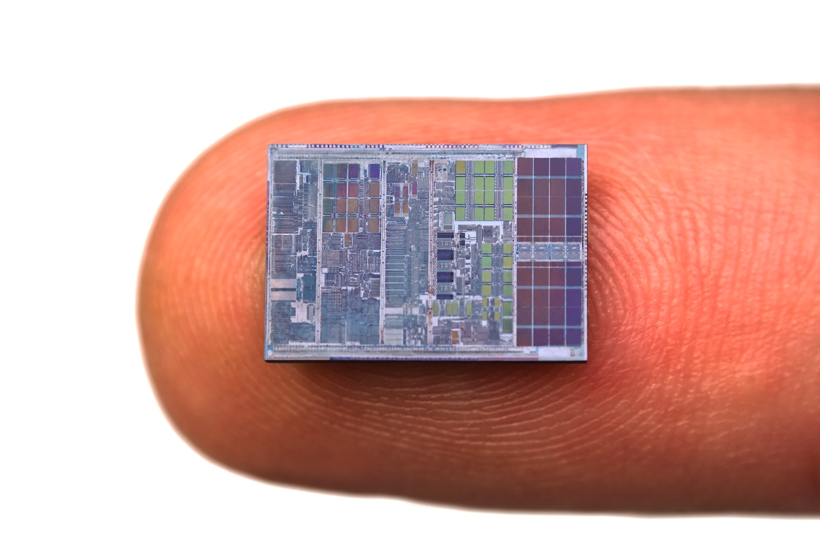 Top-of-the-line microprocessors currently have circuit features that are around 14 nanometres across… that's already smaller than most viruses