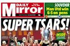 Trinity Mirror and Johnston Press report severe drops in ad sales