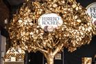 Ferrero Rocher creates golden tree for festive push