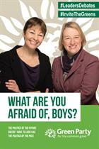 Green Party mocks male-dominated debates with new campaign poster