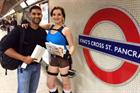 Lara Crofts take to the tube to offer commuters iPads in Brown Betty PR stunt
