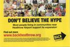 Heathrow expansion group told by ASA not to repeat claim about local support