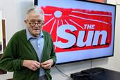 Phew what a scorcher! David Hockney redesigns The Sun's masthead