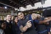 #ForceOfBlack: All Blacks star Sonny Bill Williams poses with Londoners