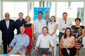 l-r Rajamannar, Mastercard; Mitchell, McDonald's; Hatherall, Johnson&Johnson; Rudaizky, EY; Salzman, HP; Harris, ExchangeLab; Roman, Lenovo; Fay, Guinness World Records. Seated l-r Dobson, ExchangeLab; Barrick, Campaign; Wakely, Mars Petcare