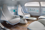 A look inside the Mercedes-Benz F 015 mobile living space, the luxury automaker's driverless concept car unveiled at CES 2015