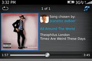 Rim launches BlackBerry 'social' music service