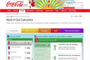 Coke helps consumers burn calories with Work It Out calculator