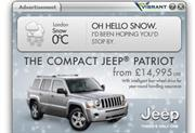 Jeep targets snowed-in consumers with latest campaign