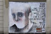 In pictures: Graffiti artists tell stories of young homeless people in East London