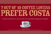 Costa Coffee campaign targets rival Starbucks
