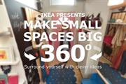Ikea shows how to 'make small spaces big' with 360° virtual tour