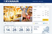 Ryanair unveils new-look website in attempt to update brand image