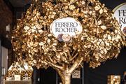 Ferrero Rocher creates golden tree for festive push