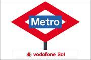 Vodafone splashes €3m on painting Madrid Metro red