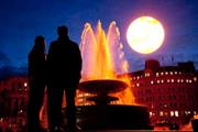 HIT OR MISS? Giant Tropicana sun rises over Trafalgar Square