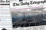 Telegraph.co.uk to introduce metered pay strategy for overseas users