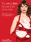 Coronation Street's Tracy Barlow lends glamour to anti-fur campaign