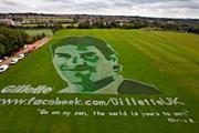 Gillette's Facebook fans help create giant Roger Federer portrait