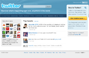 Twitter in homepage makeover