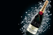 Moet delivers crystal-clad champagne in time for Christmas