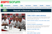 ESPN and Land Rover team up to relaunch Scrum rugby website
