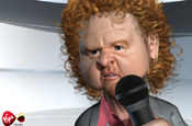 Animated Mick Hucknall pushes Virgin Media on-demand service