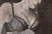 Wonderbra unveils giant bosom mosaic
