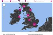 """The Guardian """"live music map"""" by LBi"""
