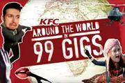 "KFC ""KFC 99p VIP Presents: Around the World in 99 Gigs"" by Bartle Bogle Hegarty"