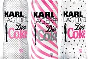 Diet Coke: limited edition bottle designs created by Karl Lagerfeld