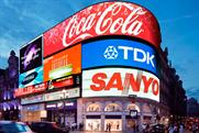 Piccadilly Circus: displays for Samsung, Coca-Cola, McDonald's, TDK and Sanyo