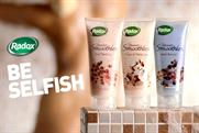 Recent Radox campaign for 'shower smoothies'