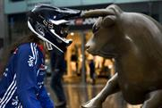 BMX: a rider goes head-to-head with a bull at Birmingham's Bullring