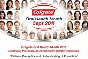 Colgate: includes social media in this year's Oral Health Month campaign