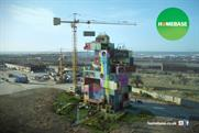 Homebase ad showcases its products by building showrooms in public places