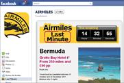 Airmiles: offers daily deals via Facebook