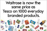 Waitrose: kicks off price match onslaught