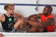 Holiday Inn: Vanessa Raw and Mark Lewis-Francis promote ice bath service