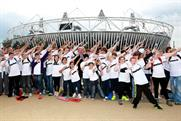 Sported: youngsters from the charity's member organisations at the Olympic Park