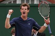 Andy Murray: without a shirt sponsor at Wimbledon