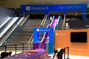 Microsoft: giant slide at Bluewater promotes the new Windows 8 operating system